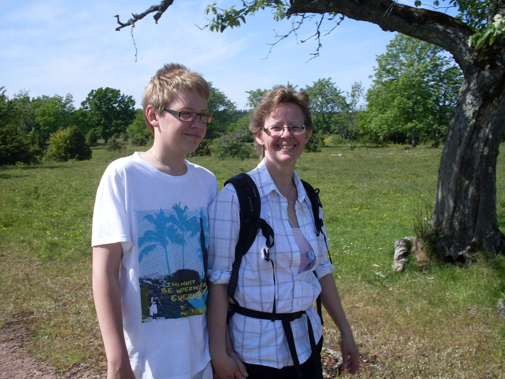 Mor och bror på Kinnekulle